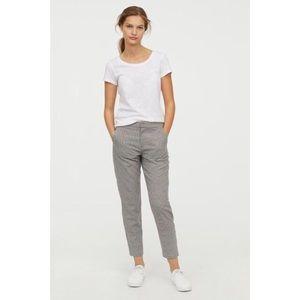 H&M Plaid Suit Pants in Grey Check
